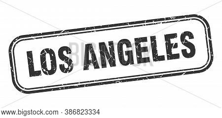 Los Angeles Stamp. Los Angeles Black Grunge Isolated Sign