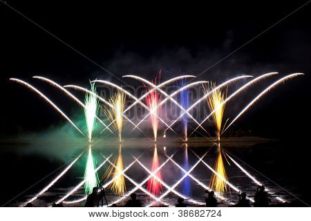 Photographing Criss Cross Fireworks