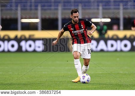 Milano, Italy. 24th September 2020. Uefa Europa League. Hakan Calhanoglu  Of Ac Milan   During The U