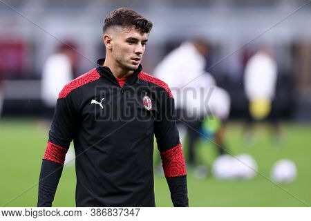 Milano, Italy. 24th September 2020. Uefa Europa League. Brahim Diaz  Of Ac Milan   During The Uefa E