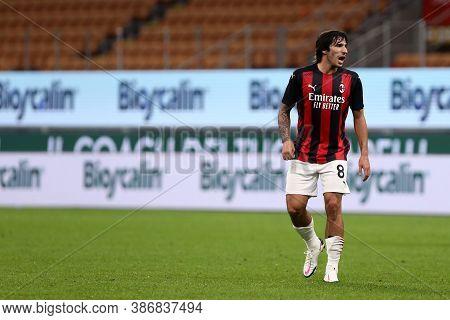 Milano, Italy. 24th September 2020. Uefa Europa League. Sandro Tonali  Of Ac Milan   During The Uefa
