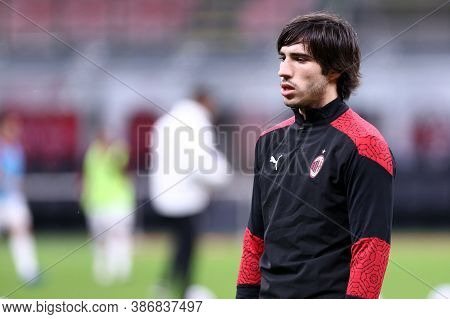 Milano, Italy. 24th September 2020. Uefa Europa League. Sandro Tonali  Of Ac Milan   During The Uefa