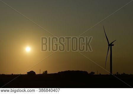 Wind Turbine At Sunrise, Burton Wold South Wind Farm, Burton Latimer, Northamptonshire 19th Sept 202