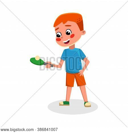 Boy Playing Table Tennis, Kid Playing Sports Game, Doing Physical Exercise, Active Healthy Lifestyle