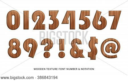 Nature Wooden Texture Font Number And Notation