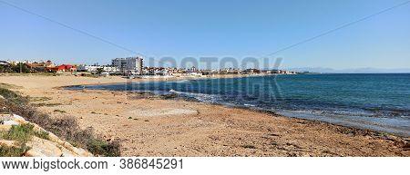 Torre La Mata Sandy Beach And Mediterranean Sea. Torrevieja. Province Of Alicante, Costa Blanca, Spa