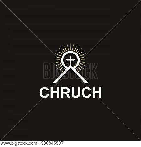 Worship Place, Church Logo Template Design Vector