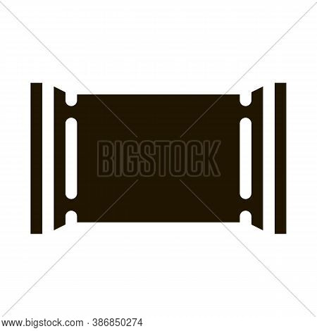 Blank Polymer Packaging Chocolate Bar Glyph Icon . Carton Box And Bag Packaging Pictogram. Parcel, S