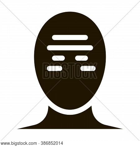 Tension Band Squeezing Head Headache Glyph Icon . Tension And Cluster, Migraine And Stress Symptom P
