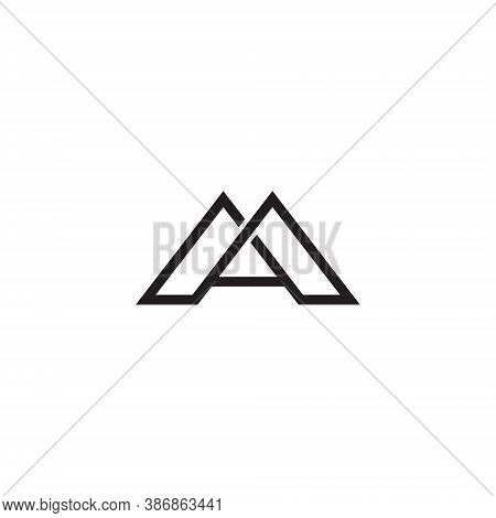 A Letter Lettermark Logo Monogram - Typeface Type Emblem Character Trademark