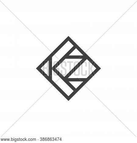 K Z Letter Lettermark Logo Kz Monogram - Design Element Typeface Type Vintage Sign Emblem Typeset Co