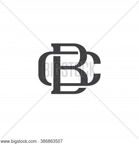 B C Letter Lettermark Logo Bc Monogram - Design Element Typeface Type Vintage Sign Emblem Typeset Co