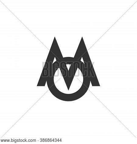 M O Letter Lettermark Logo Mo Monogram - Typeface Type Emblem Character Trademark