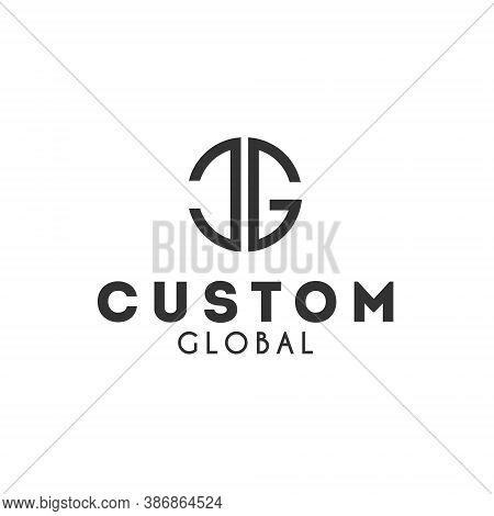 C G Letter Lettermark Logo Cg Monogram - Design Element Typeface Type Vintage Sign Emblem Typeset Co