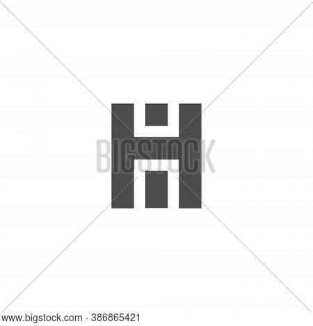 H I Letter Lettermark Logo Hi Monogram - Typeface Type Emblem Character Trademark