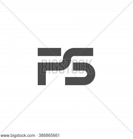 Ps Letter Lettermark Logo P S Monogram - Typeface Type Emblem Character Trademark