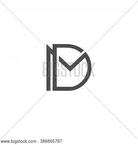 Md Letter Lettermark Logo M D Monogram - Typeface Type Emblem Character Trademark