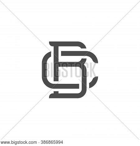 Bc Letter Lettermark Logo B C Monogram - Design Element Typeface Type Vintage Sign Emblem Typeset Co
