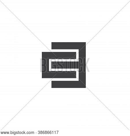 Ce Letter Lettermark Logo C E Monogram - Design Element Typeface Type Vintage Sign Emblem Typeset Co