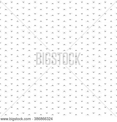 Seamless Surface Pattern Design With Mini Angle Brackets Ornament. Repeated Chevrons Wallpaper. Poin