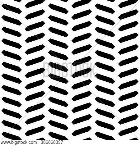 Herringbone Motif. Seamless Surface Pattern Design With Hexagons Tessellation Ornament. Mosaic Parqu