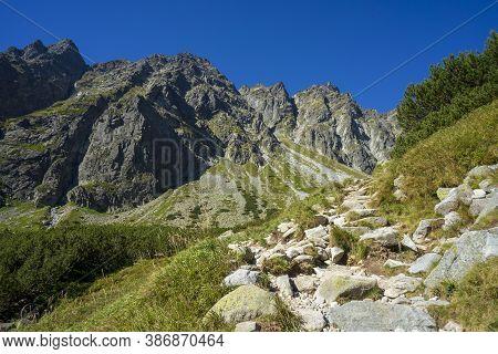 Mengusovska Valley In October. High Tatra Mountains. Slovakia.