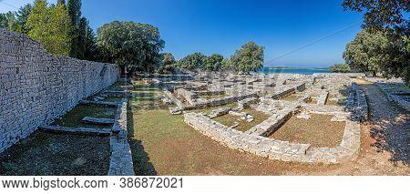 Panoramic Picture Over The Historic Area Of Byzantine Castrum On The Croatian Island Brijuni In Summ