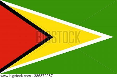 Guyana Flag, Official Colors And Proportion Correctly. National Guyana Flag. Vector Illustration