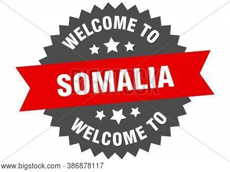 Somalia Sign. Welcome To Somalia Red Sticker