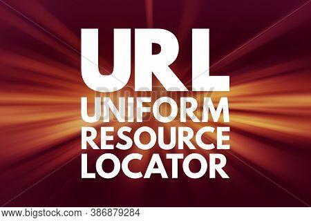 Url - Uniform Resource Locator Acronym, Technology Concept Background