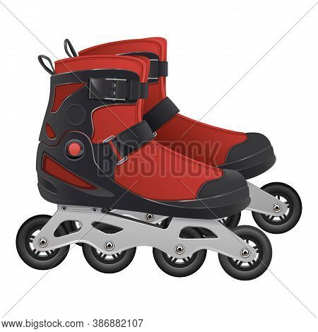 Vector Roller Skates Icon Isolated On White Background