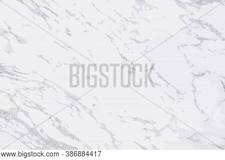 Luxury White Marble Texture Background Vector. Panoramic Marbling Texture Design For Banner, Invitat