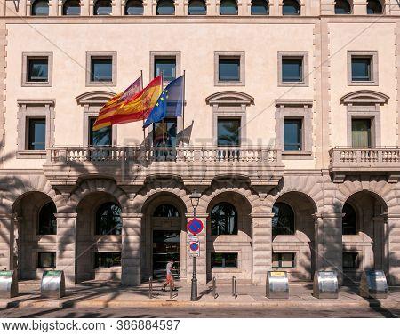 Palma De Mallorca, Balearic Islands/spain; September 2020: Facade Of A Balearic Government Building