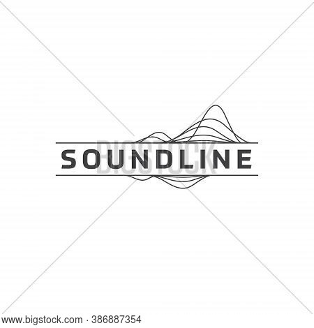 Sound Wave Logo - Music Waves Note Bass Classic Rock Line Tune Song Live Pop Dj Electric Tone Part J