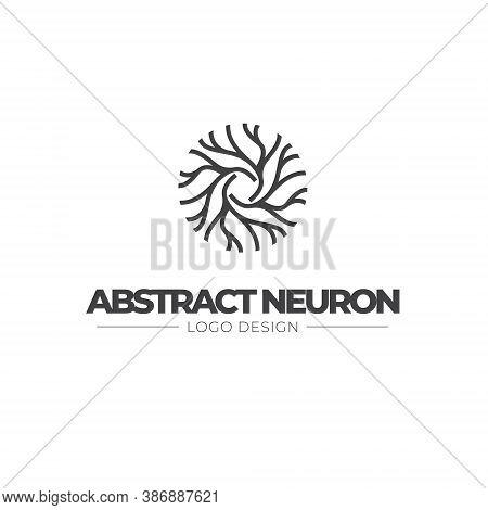 Neuron Logo - Brain Cell Science Nerve Biology Neurology Medical Nervous Neural Network Receptors Mi