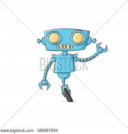 Robot Cartoon Character Illustration - Tech Technology Future Scifi Cyborg Machine Future Intelligen