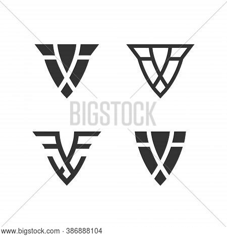 Shield Logo Set Collection - Emblem Guard Protect Defense Safe Arms Safety Secure Armor Privacy Abst