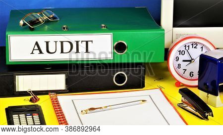 Audit - The Text Label For The Folder Office Of The Registrar. A Reliable Opinion Of The Correctness
