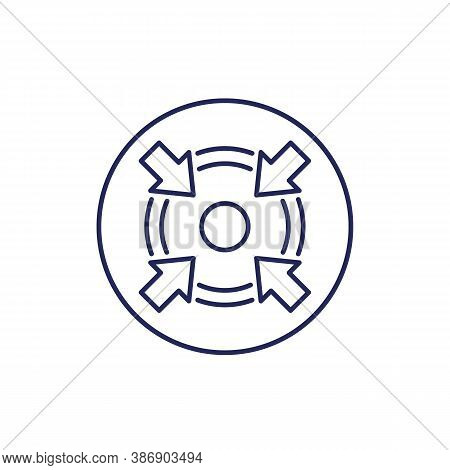 Specific Focus Or Concentration Line Icon, Eps 10 File, Easy To Edit