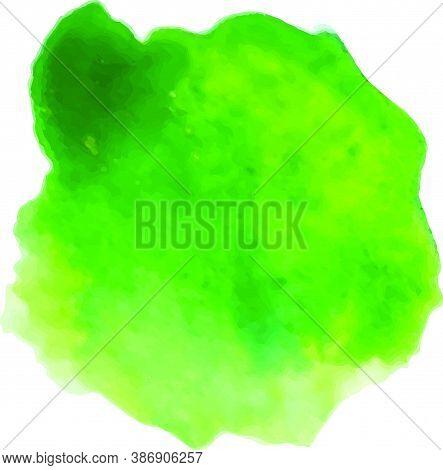 Watercolor Splash Texture. Vector Brush. Green Watercolor Gradient.