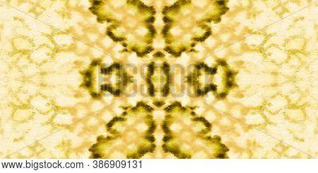 Seamless Cobra Pattern. Yellow And Gold Border. Jungle Exotic Background. Cobra Or Phyton Wild Surfa