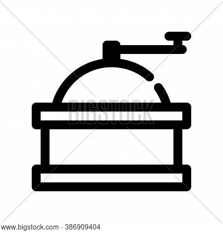 Coffee Grinder Outline Icon. The Item From Set Dedicated To Coffee And Coffee Shops, As Well As Rela