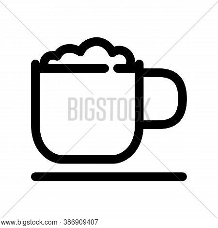 Coffee Latte Outline Icon. The Item From Set Dedicated To Coffee And Coffee Shops, As Well As Relate