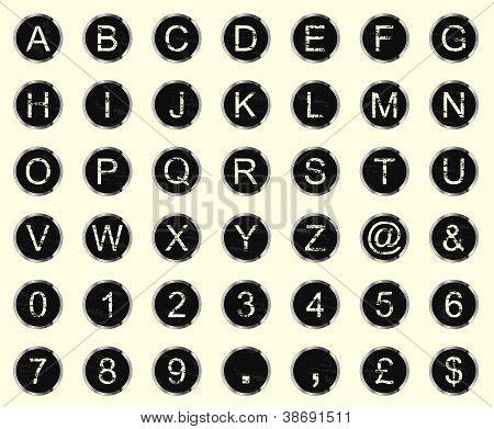 Vintage Typewriter Letters