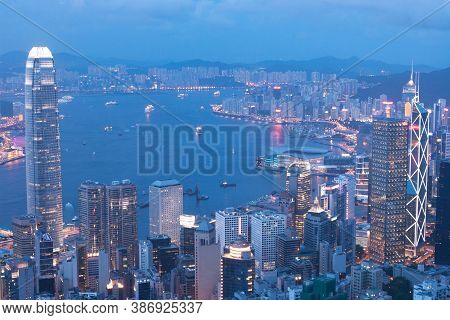3 June 2007 Hong Kong Night, View From The Peak,