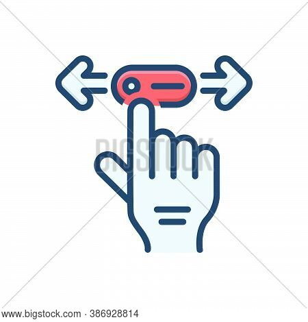 Color Illustration Icon For Move Gait Ploy Ruse Change Hand Touch