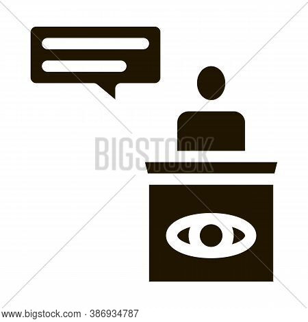 Male Witness Law And Judgement Icon Vector . Contour Illustration