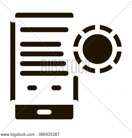 Betting Phone Gambling Icon Vector . Contour Illustration