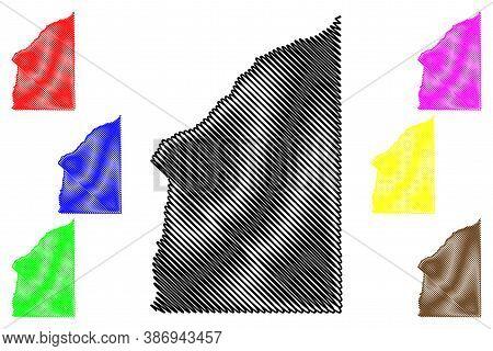 Fountain County, Indiana (u.s. County, United States Of America, Usa, U.s., Us) Map Vector Illustrat