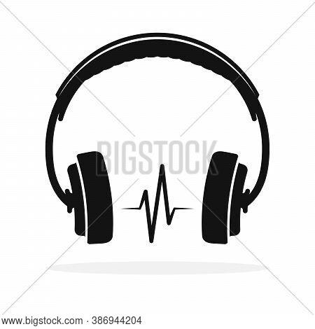 Headphones Icon Isolated. Vector Illustration. Headphones Icon In Flat Design